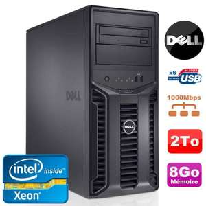 Serveur Dell PowerEdge T110II Reconditionné - Xeon Quad Core E3-1220 3.1Ghz NR, 8 Go RAM, 2 To HDD