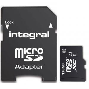 Carte microSDXC Integral Classe 10 - 128 Go avec adaptateur