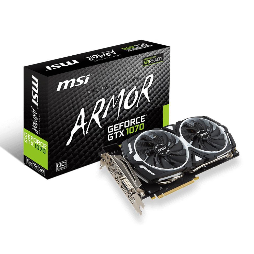 Carte Graphique GeForce GTX 1070 Armor 8G OC (GOW4 offert)(Dépackagé)
