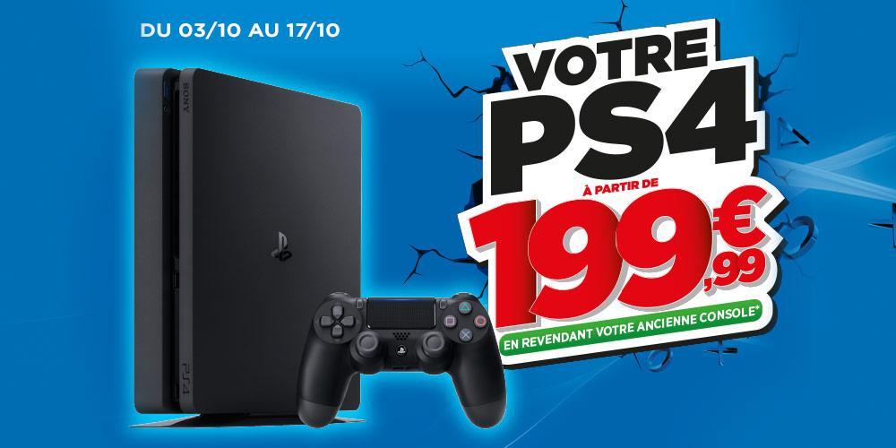 Console Playstation 4 1To + Fifa 17 en revendant votre ancienne console