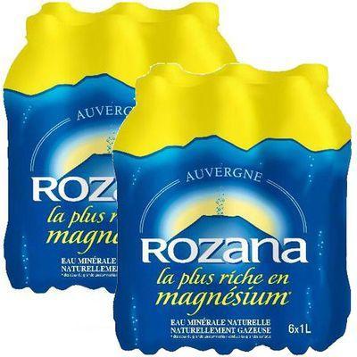 2 packs d'eau minérale Rozana 6 x 1L (via Quoty et Coupon Network)