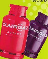 Sélection de Bouteilles de gaz Clairgaz en promotion - Ex: Propane 13kg (via 10€ en ticket E-Leclerc avec la carte de fidélité)