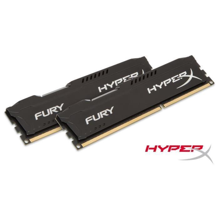 Kit mémoire DDR3 HyperX Fury Black 16 Go (2x8 Go) - 1866MHz, CL10