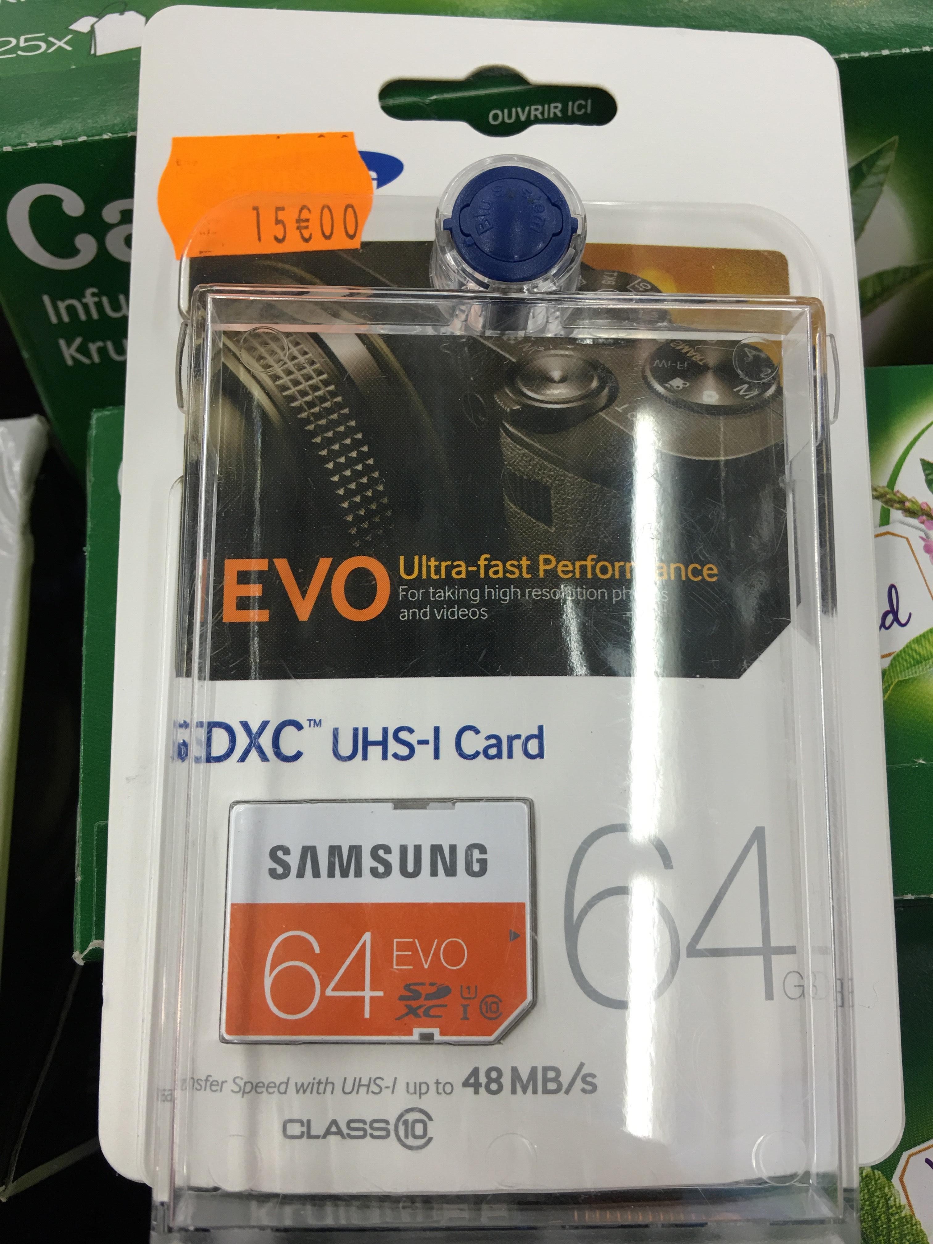Carte SDXC Samsung EVO 64Go UHS-1