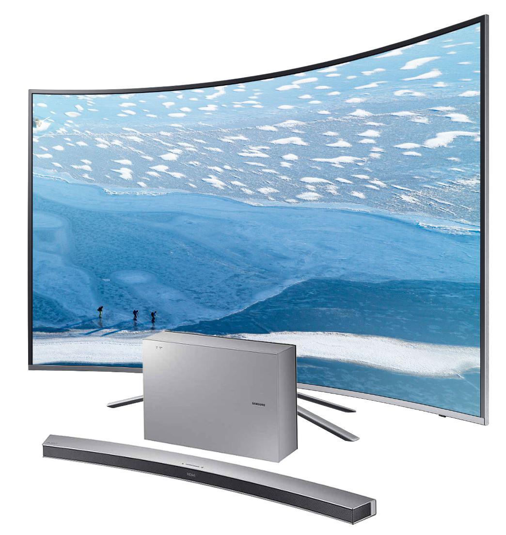 "TV 55"" Samsung UE55KU6500 (LED, Incurvée, 4K, Smart TV) + Barre de son Samsung HW-J6001R offerte"