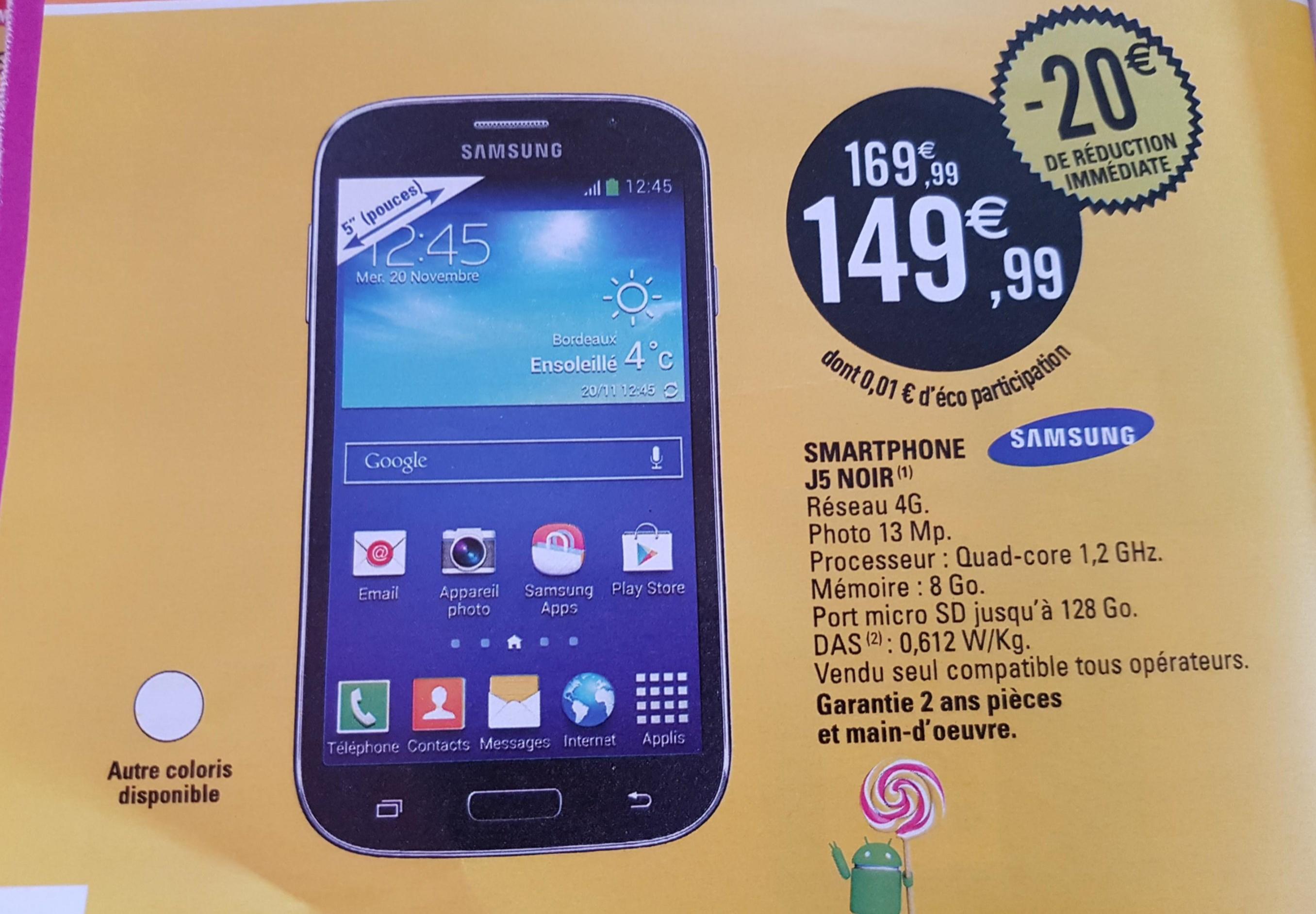 """Smartphone 5"""" Samsung J5 2015"""