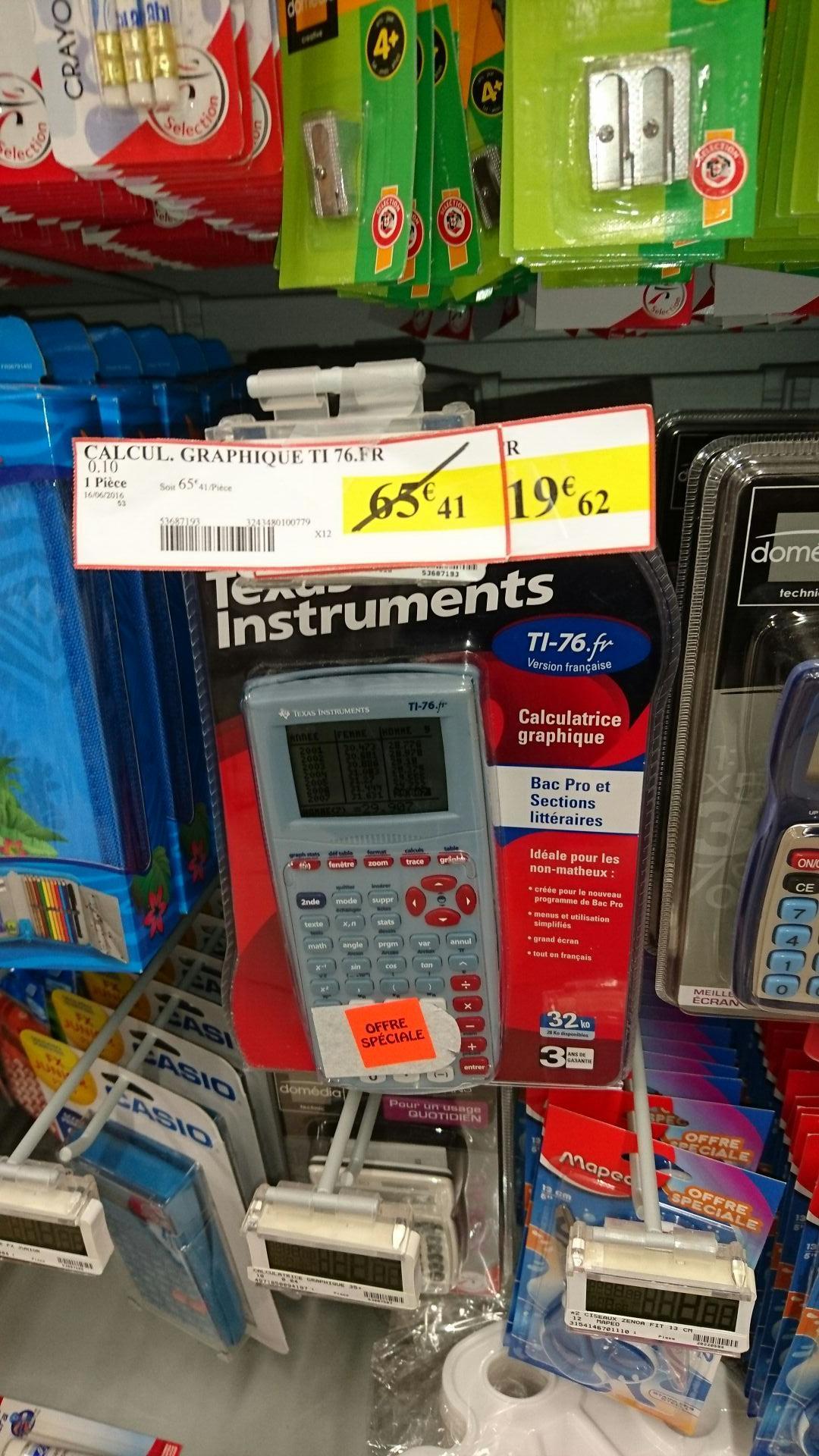 Calculatrice graphique Texas Instruments TI-76FR