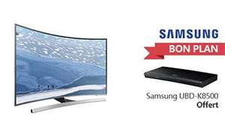 "TV 55"" Samsung  UE55KU6640 (LED, Incurvée, 4K, Smart TV) + Lecteur Blu-ray UHD UBD-K8500 offert"