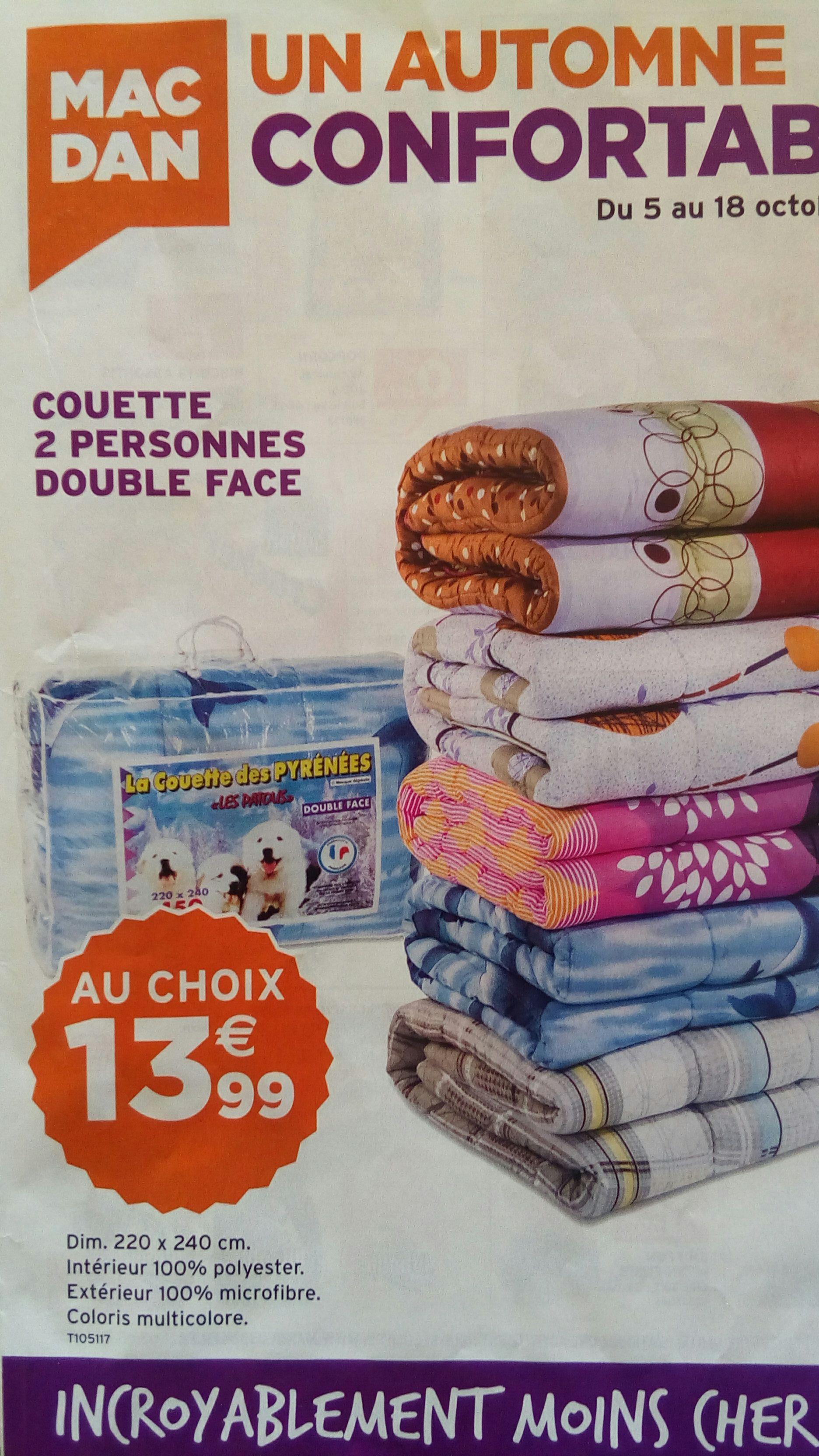 Couette double-face (220x240 cm, différents motifs)