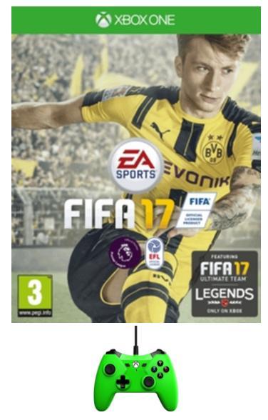 Fifa 17 sur Xbox One + Manette Xbox One Verte (non officielle)