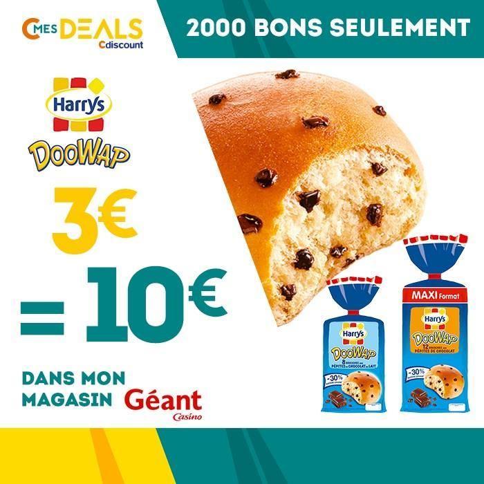 Bon d'achat de 10€ à dépenser sur les brioches DooWap en magasin Géant Casino