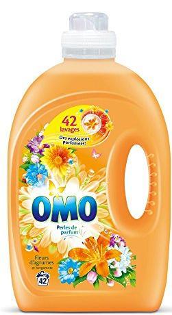 Lot de 2 bidons de lessive liquide Omo - 2.94 L (différents parfums)