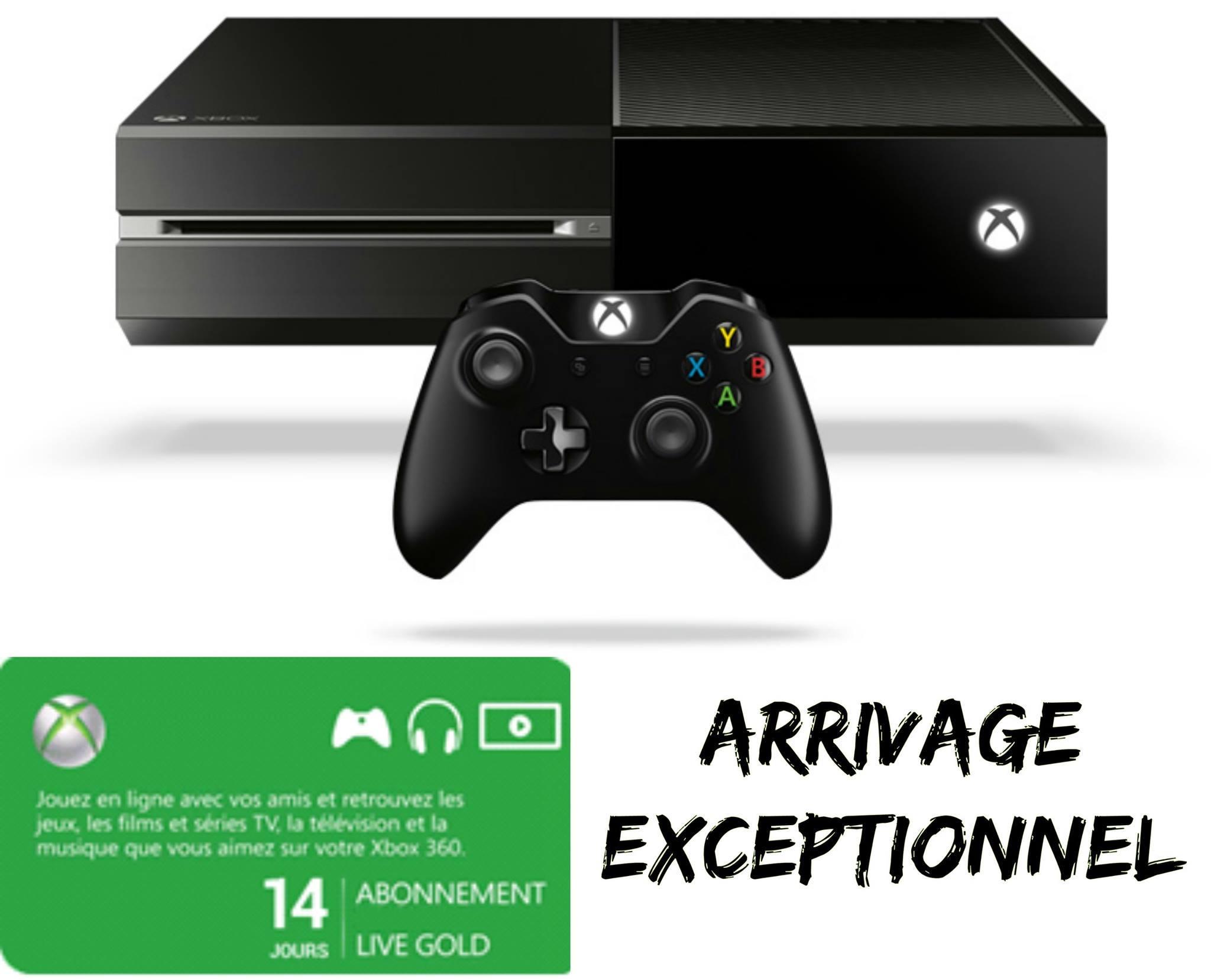 Pack console Microsoft Xbox One (500 Go) + abonnement de 14 jours au Live Gold