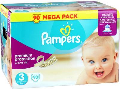 [Nouveaux clients] Sélection de couches Pampers en promo - Ex : 5 Mega Pack T3 90 couches (soit 450 couches)  (avec 93.1€ sur la carte)