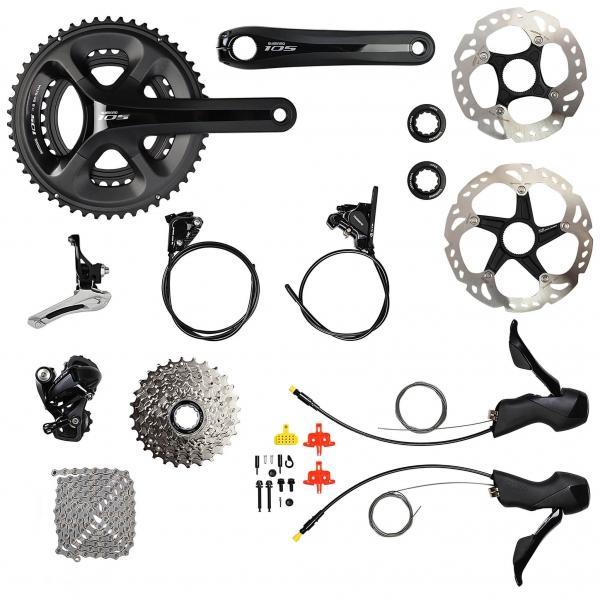 Groupe complet pour vélo Shimano 105 5800 Disc 34/50 - 11/28