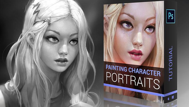 Tutorial Vidéo Painting Character Portrait par Marc Brunet - Full HD, 1h50 (Dématérialisé)