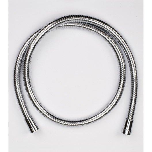 Flexible de douche métal double agrafage de 180 à 200 cm - Chromé