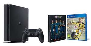 Pack Console Sony PS4 Slim 1 To + Fifa 17 + Steelbook