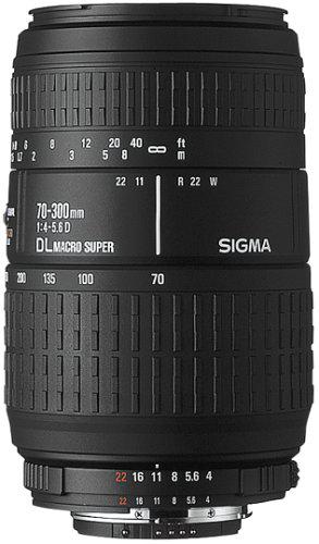 Objectif SIGMA Zoom 70-300 F4-5.6 DG Macro pour Canon