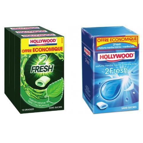 Sélection de produits en promotions - Ex: 2 Lots de 3 paquets de Chewing-gum Hollywood (via BDR)