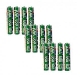 Lot de 12 Piles Rechargeables Good To Go NiMh - AAA/HR03, 850 mAh