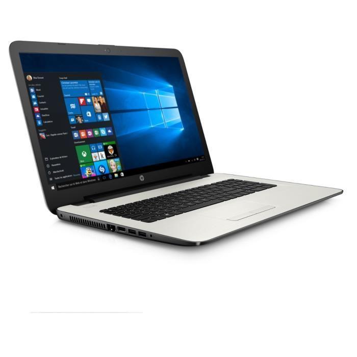"""PC Portable 17.3"""" HP 17-y012nf Blanc - HD+, A8-7410 2.2 GHz, RAM 8 Go, HDD 1 To, Windows 10"""