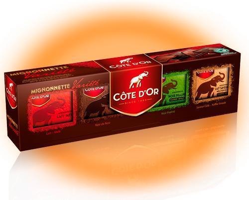 1 boîte de Côte d'Or Mignonnettes Variété x32 (Via Shopmium + 30% sur la carte)