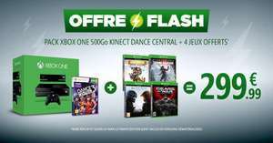 Pack Console Microsoft Xbox One 500 Go + Kinect + 5 jeux