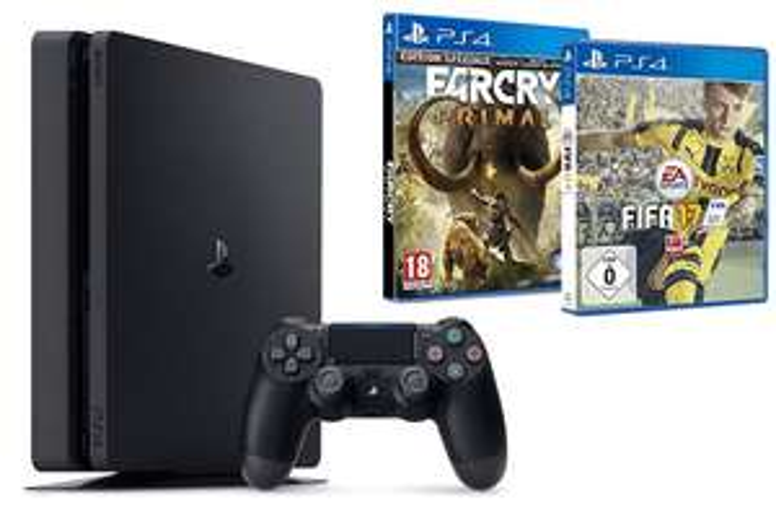 Console Sony Playstation 4 Slim 1To + Fifa 17 + Far Cry Primal