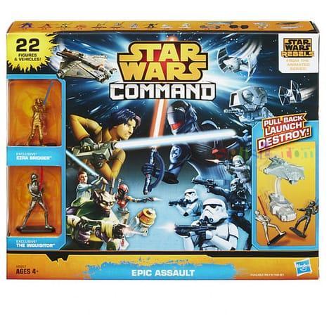 Pack Hasbro Assault Star Wars Command - 22 figurines et vaisseaux