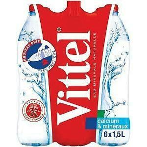 Sélection de packs d'eau en promotion - Ex: 4 packs de 6 bouteilles d'eau minérale Vittel 1.5 L