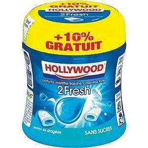 Boite de chewing-gum Hollywood 2 Fresh (97g) (via BDR)