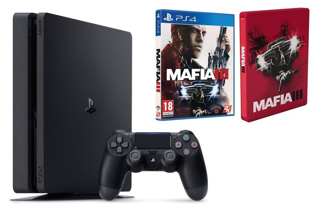 Console Sony PS4 Slim 1 To + Jeu Mafia III + Steelbook
