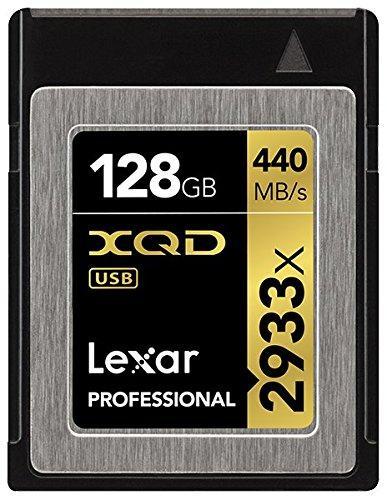 Carte XQD Lexar Professional 2933x (Jusqu'à 325 Mo/s) - 128 Go