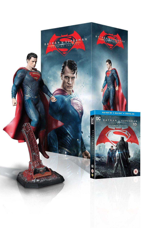 Blu-Ray 3D Batman vs Superman - Edition Limitée (avec statuette Superman) (pas de VF)