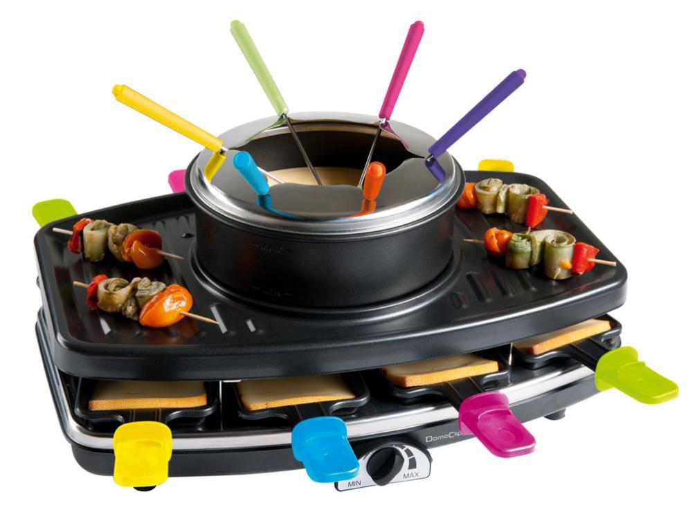 Appareil à raclette / grill / fondue DomoClip DOC107 (pour 8 personnes, 1100 W)