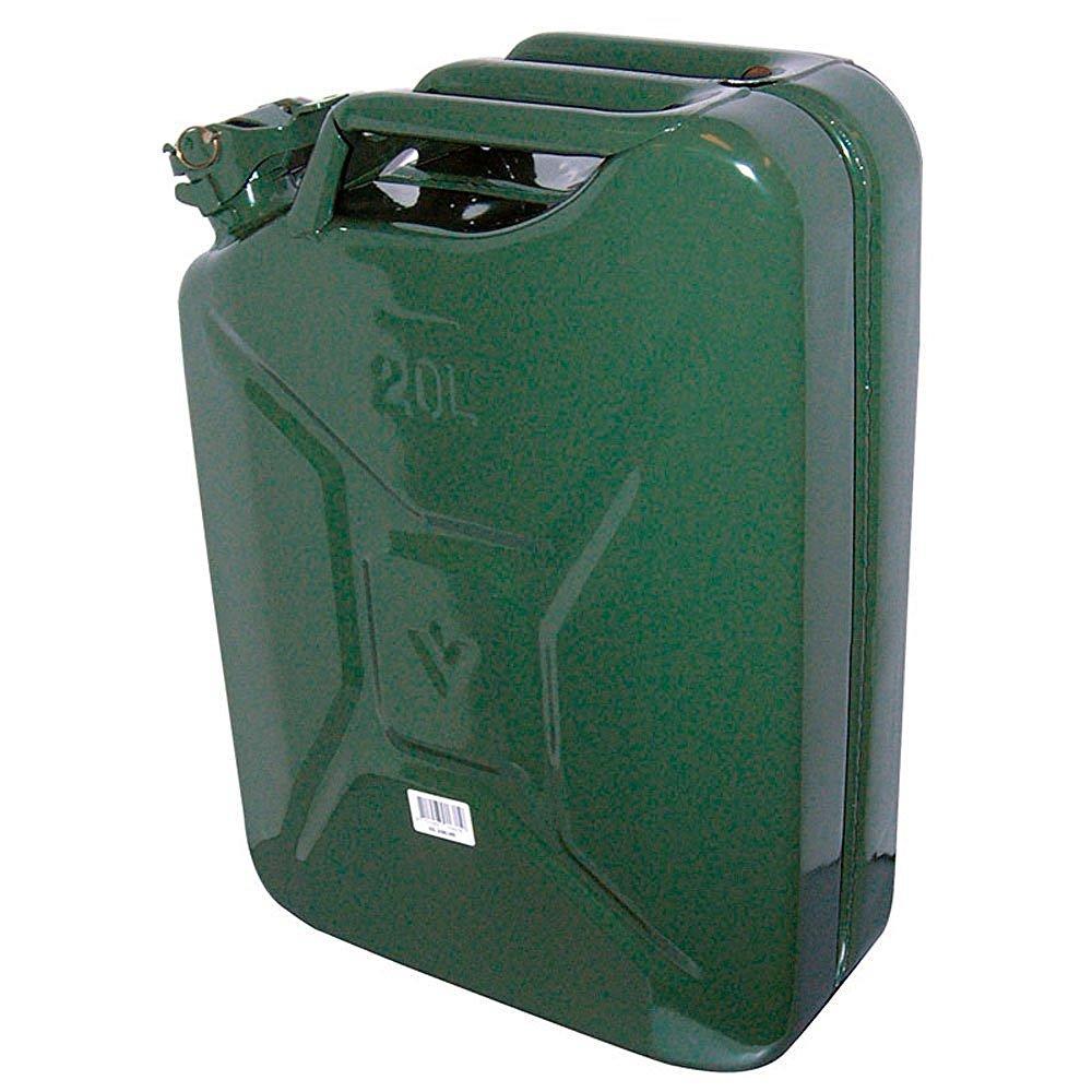 Jerrican Carpoint 20L en métal vert (Certifié GS/TUV)