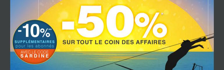 -60% sur le coin des affaires