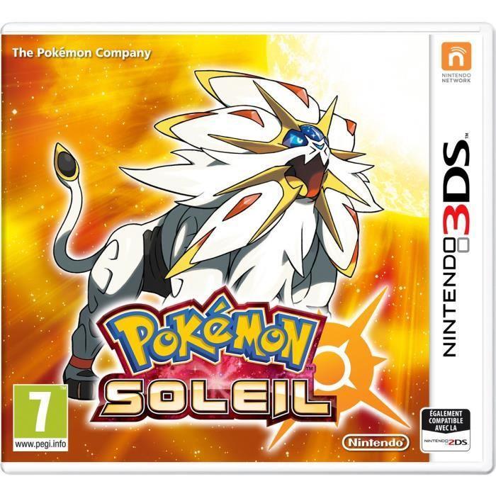Pokemon Lune ou Soleil sur Nintendo 3DS (via 10€ offerts en bon d'achat)