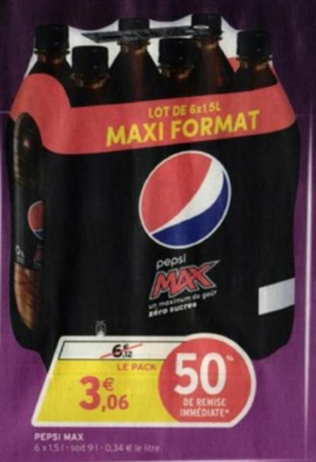 Lot de 6 x 1.5 L de Pepsi Max