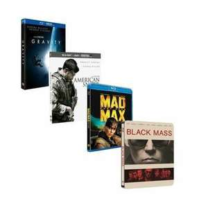 Pack de 4 Blu-Ray : Gravity + Mad Max Fury Road + American Sniper + Strictly Criminal