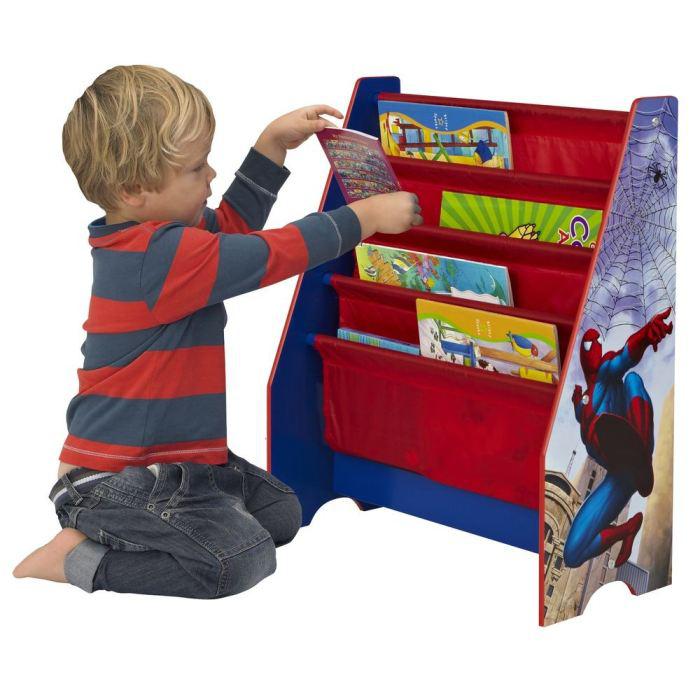 Mobilier spiderman pour enfant (Porte manteau, bibliothèque, table et tabourets, coffre à jouets)