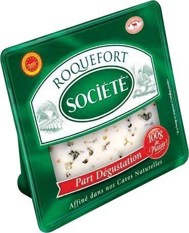 Roquefort Société 100g (avec 0.89€ sur la carte + BDR de 1€)