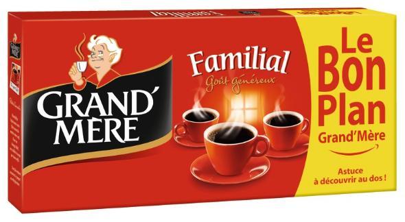 2 Lots de 4 Paquets de Café Grand'Mère - 8x250g (via BDR de 1.50€)