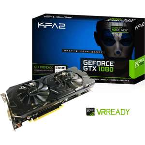 Carte graphique KFA2 GeForce GTX 1080 EXOC 8 Go + Gear Of War 4 offert