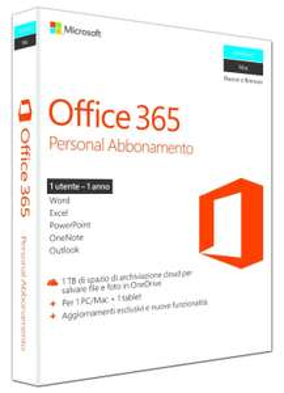 Abonnement d'un an à Microsoft Office 365 pour 1 PC Windows/Mac + 1 tablette
