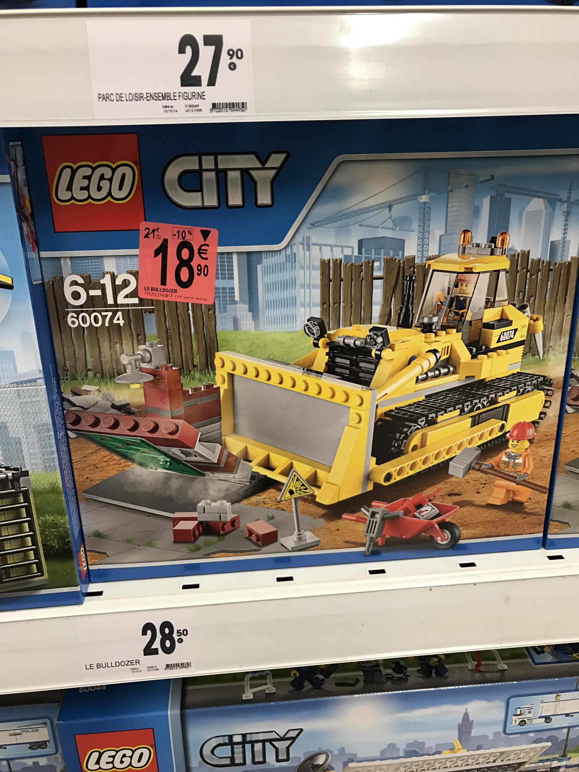 Jeu de construction Lego City Bulldozer n°60074