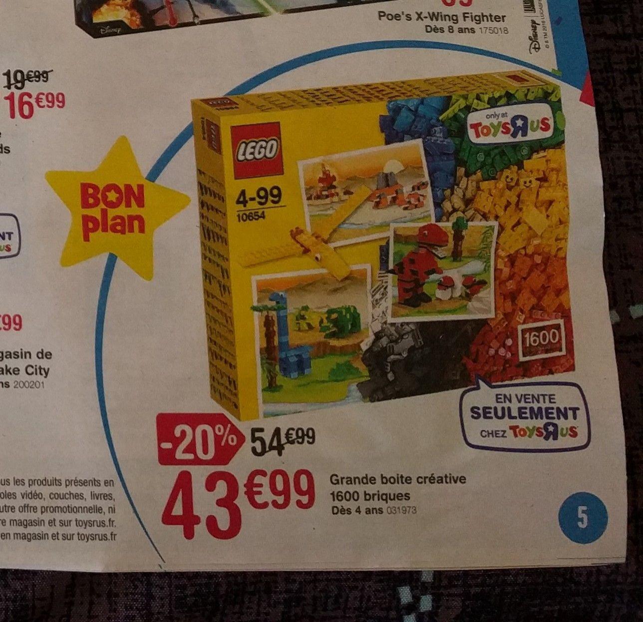 Jeu de construction Lego Boite XL avec 1600 pièces - n°10654