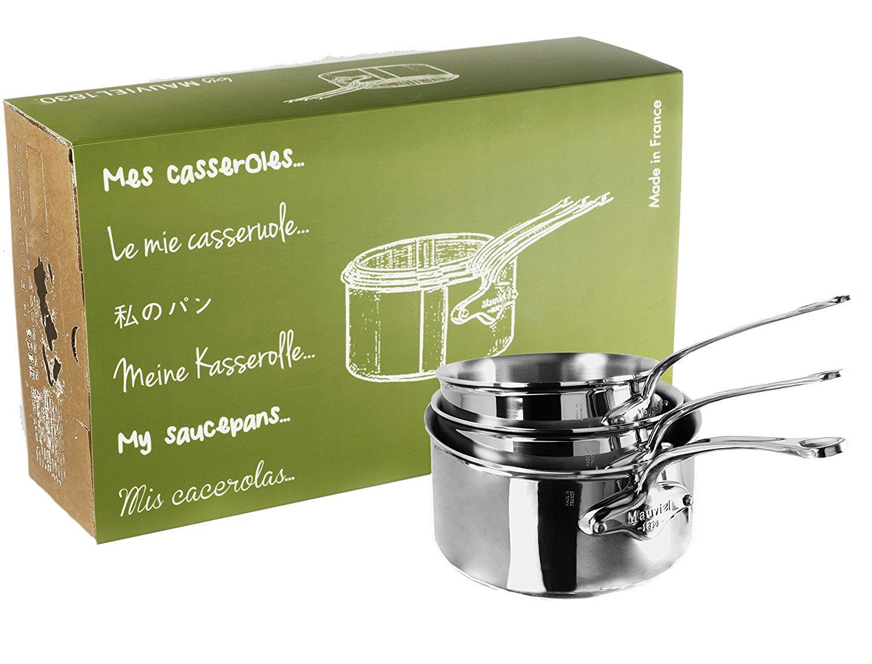 Set de 3 casseroles Mauviel M'Cook (16, 18 et 20 cm)