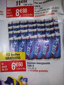 Lot de 2 packs de 12 canettes de boisson énergisante For-X - 25 cl